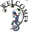 Gecko Welcome Plaque