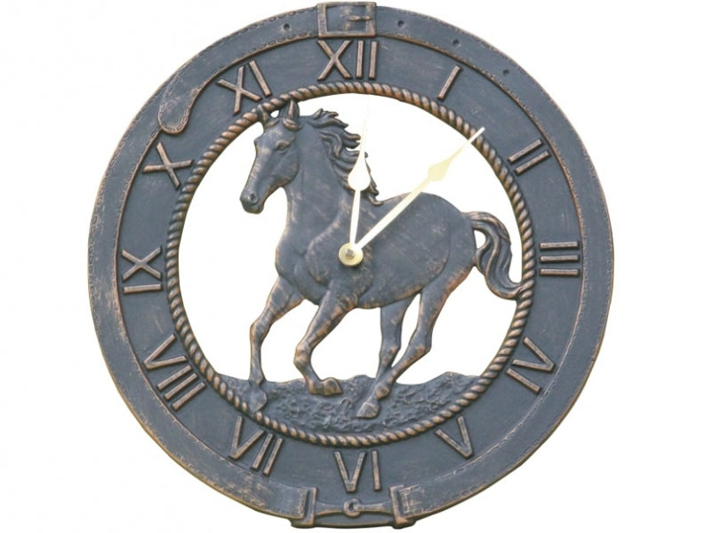 Horse Cast Aluminium Outdoor Clock