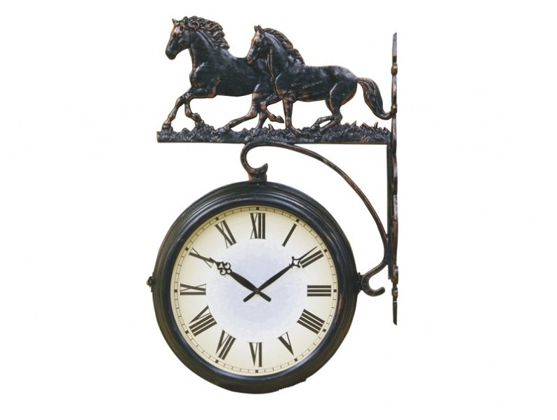 Running Horses Doubled Sided Clock