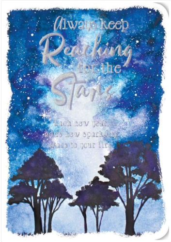 NIGHT SKY ENCOURAGE CARD