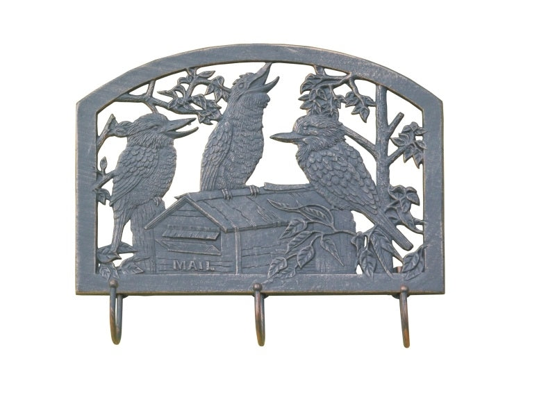 Kookaburra Cast Aluminium Coat Rack