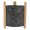 Terrazzo Pot with Stand 15x17.5cm Dark Grey