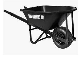 Light Trade Poly Tray Wheelbarrow