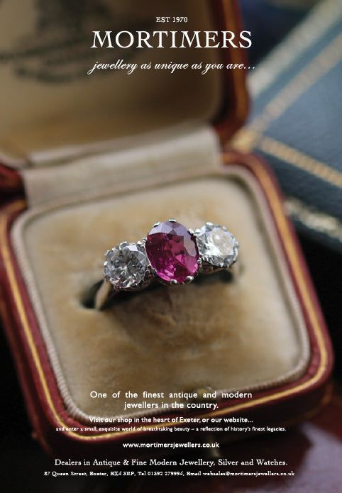 Latest Advert – Platinum Diamond and Pink Sapphire Three Stone Ring