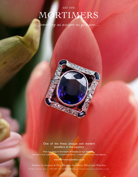 PLATINUM DIAMOND AND SAPPHIRE RECTANGULAR TABLET DRESS RING