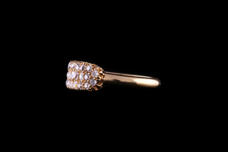 Victorian 18ct Yellow Gold Diamond Boat Shape Ring