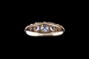 18ct Yellow Gold Diamond Five Stone Ring