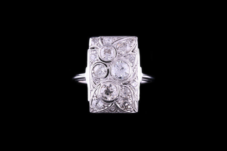 Platinum Diamond Tablet Dress Ring
