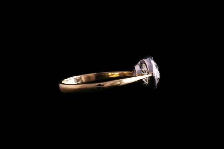 18ct Yellow Gold Diamond Single Stone Ring