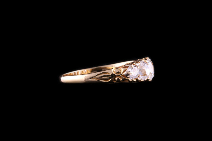Victorian 18ct Yellow Gold Diamond Five Stone Ring