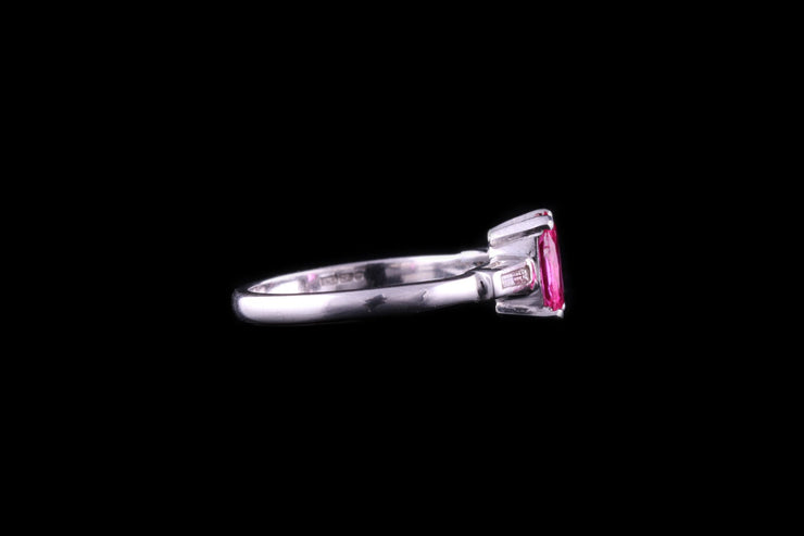 18ct White Gold Ruby Single Stone Ring