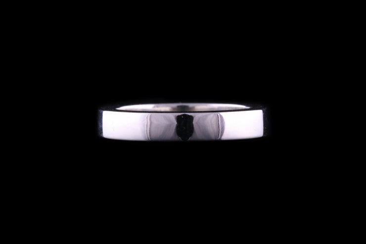 Platinum Deep Profile Wedding Ring