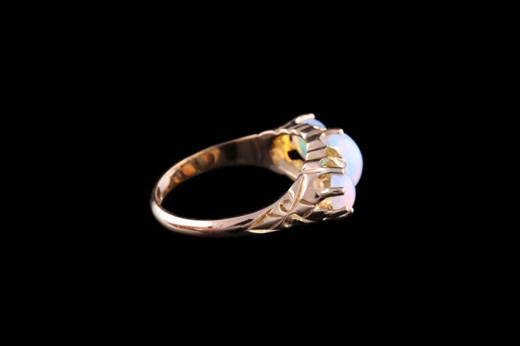 18 ct Yellow Gold Opal and Diamond Dress Ring