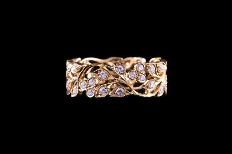 18ct Yellow Gold Diamond Set Full Eternity Ring