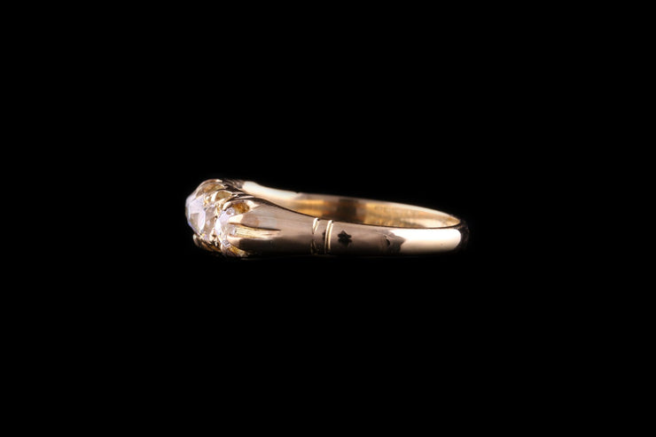 Victorian 18ct Yellow Gold Five Stone Ring