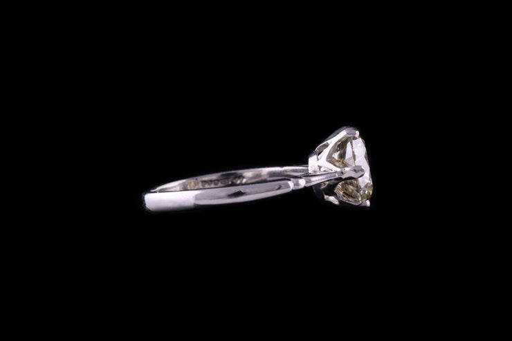 Platinum Fancy Yellow Diamond Single Stone Ring