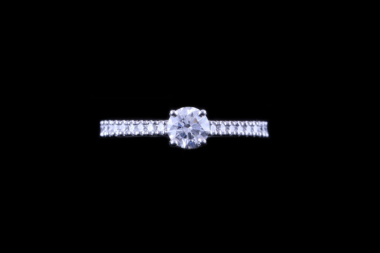 Platinum Diamond Single Stone Ring