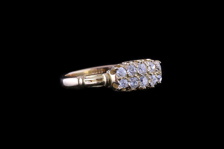 18ct Yellow Gold Diamond Double Row Ring