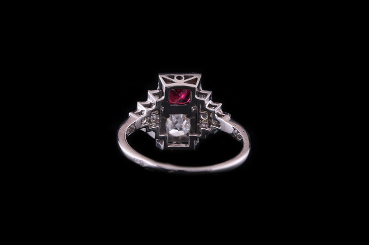 18ct White Gold Ruby and Diamond Dress Ring