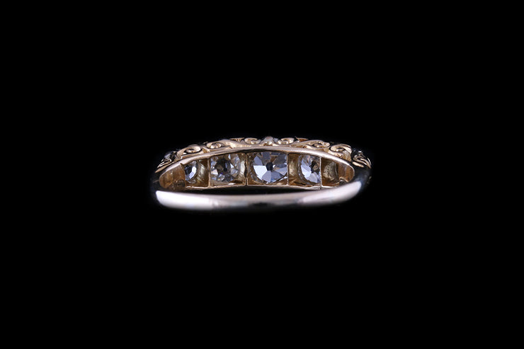18 ct Yellow Gold Diamond Five Stone Ring