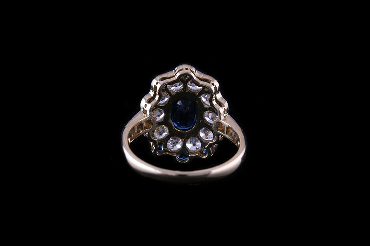 18 ct Yellow Gold Sapphire and Diamond Dress Ring