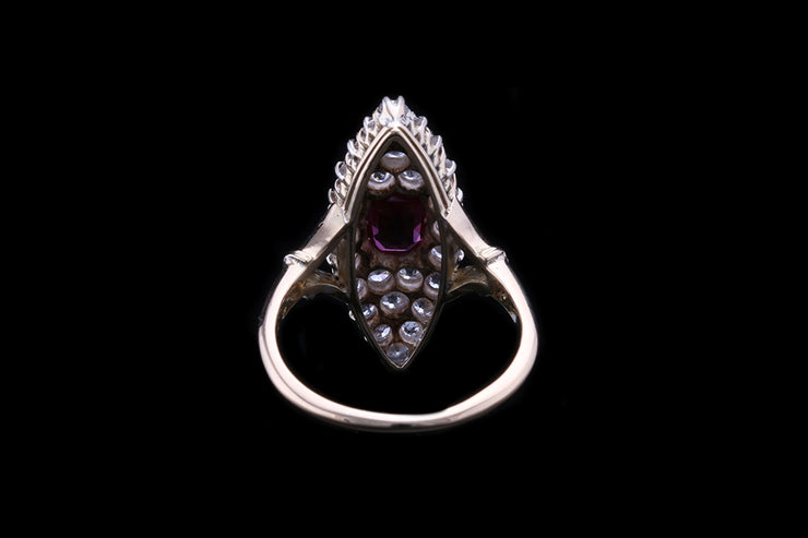18 ct Yellow Gold Ruby and Diamond Dress Ring