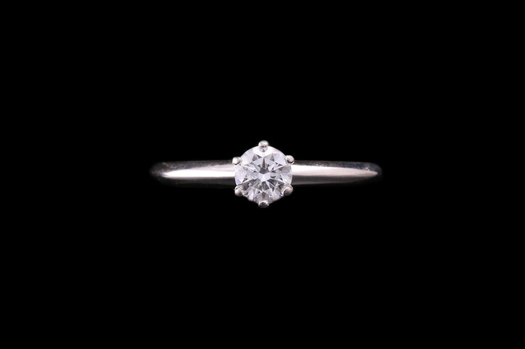 Tiffany & Co Platinum Diamond Single Stone Ring