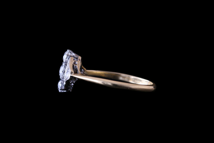 18ct Yellow Gold & Platinum Diamond Dress Ring