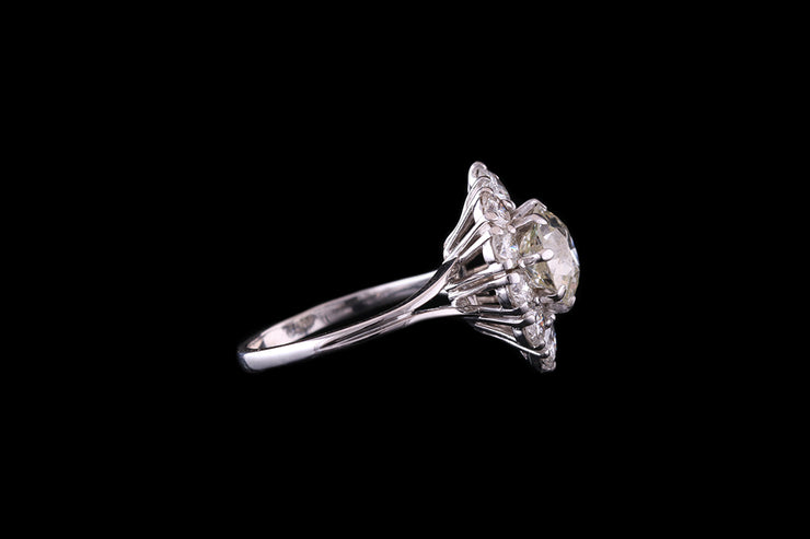 18ct White Gold Diamond Marquise Dress Ring
