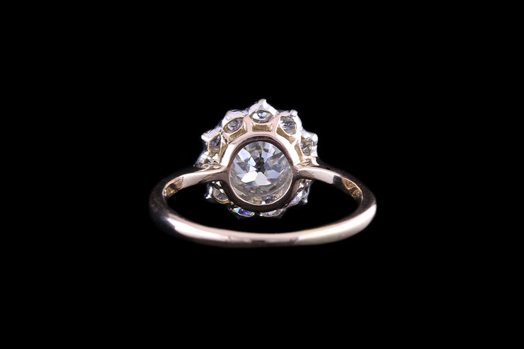 18ct Yellow Gold & Silver Star Cluster Ring