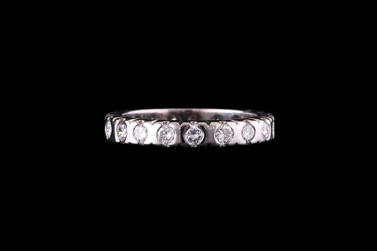 18 ct White Gold Diamond Full Eternity Ring