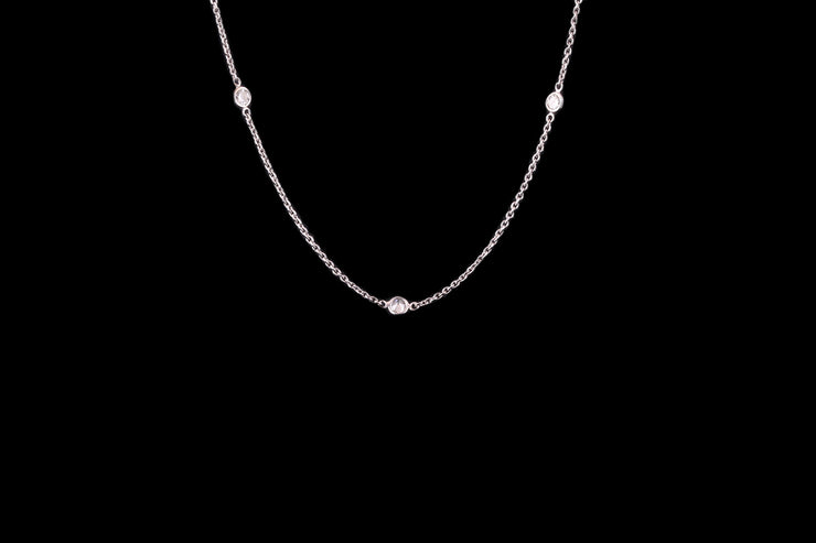18ct White Gold Diamond Spectacle Chain