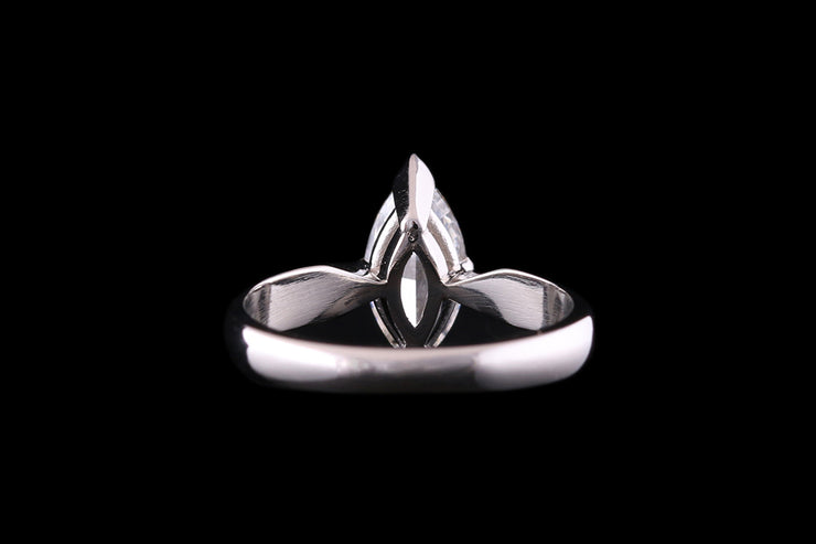Platinum Diamond Marquise Single Stone Ring