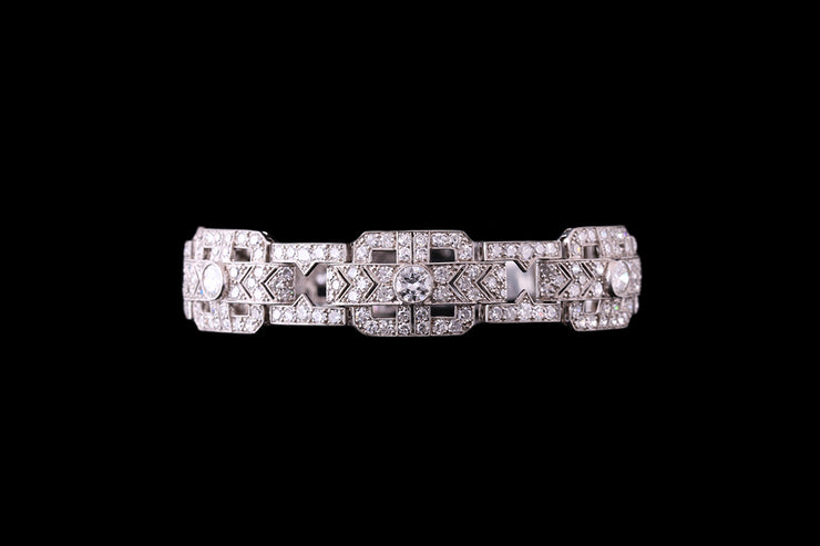 Platinum Diamond Cuff Bracelet