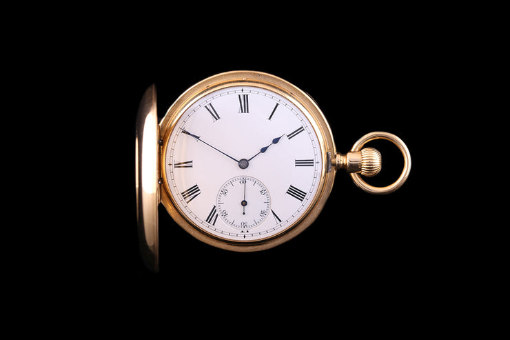 18ct Yellow Gold Half Hunter Pocket Watch