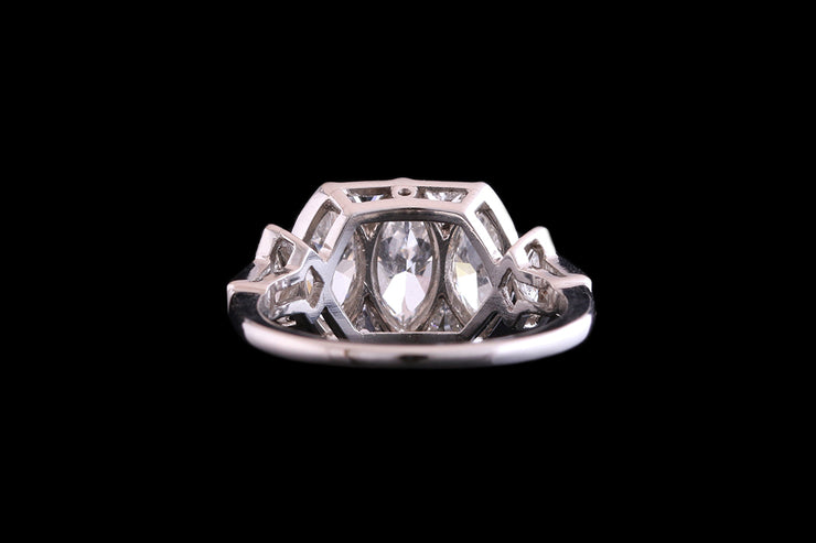 Art Deco Platinum Diamond Dress Ring