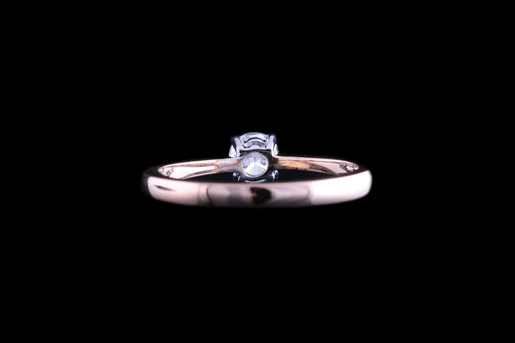 18ct Rose Gold Diamond Single Stone Ring