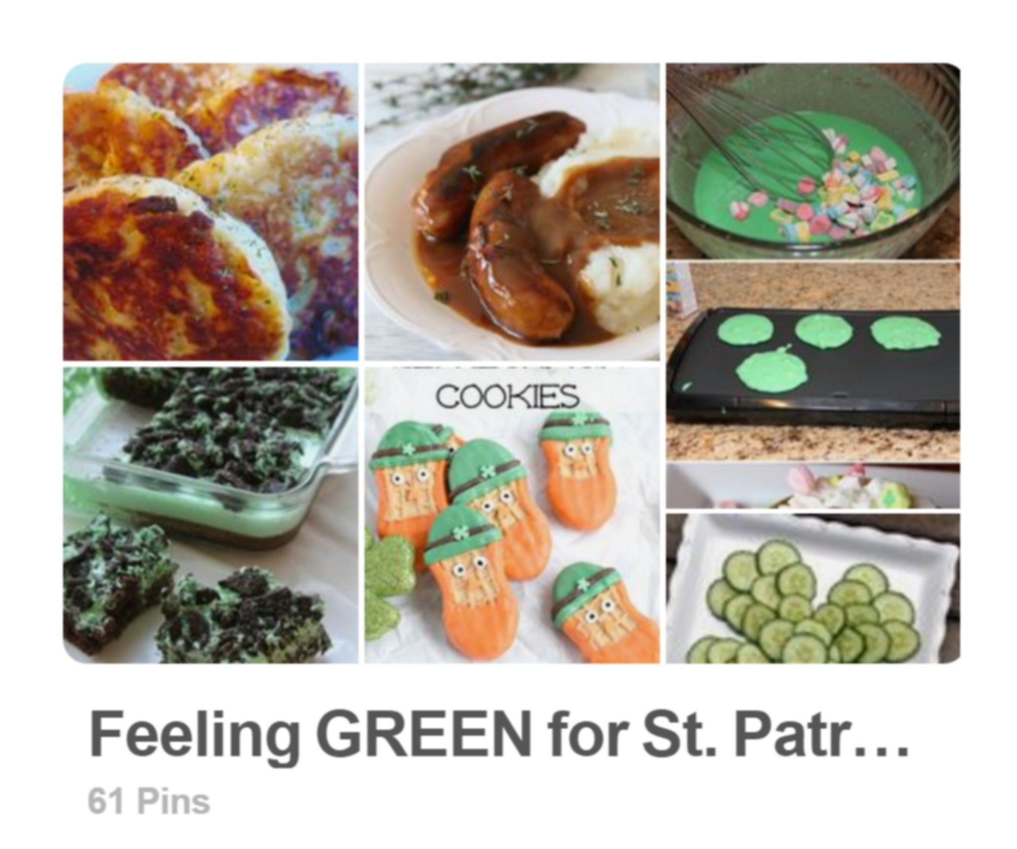 Break out the green . . . it's almost St Patrick's Day!!