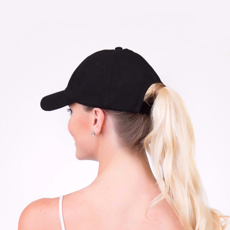 Spony Ponytail Baseball Caps- Wear it 2 Ways!! Tuxedo a7ebb7c01f9