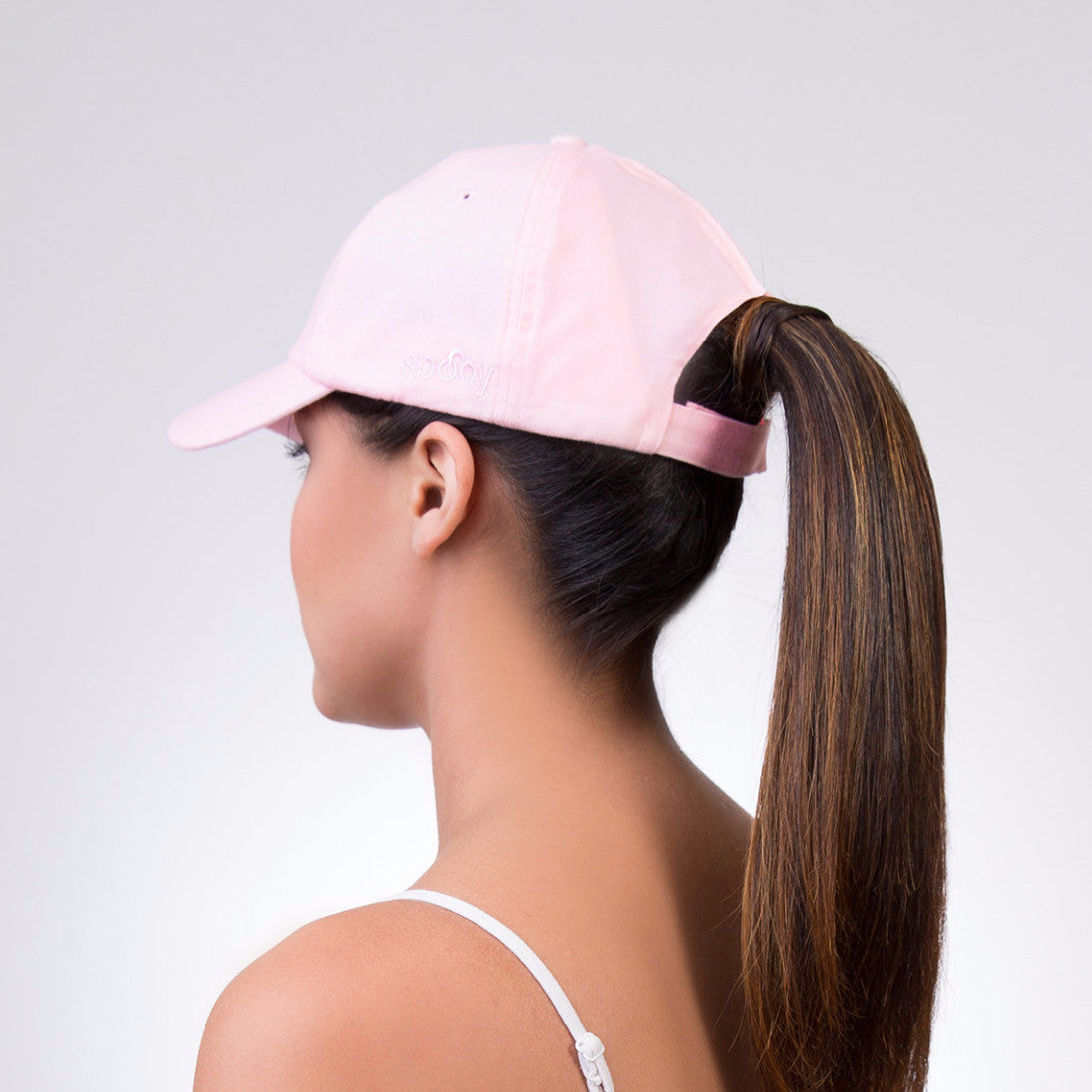 Spony Ponytail Baseball Cap - Wear it 2 Ways!! Pink Minx c1e00059651