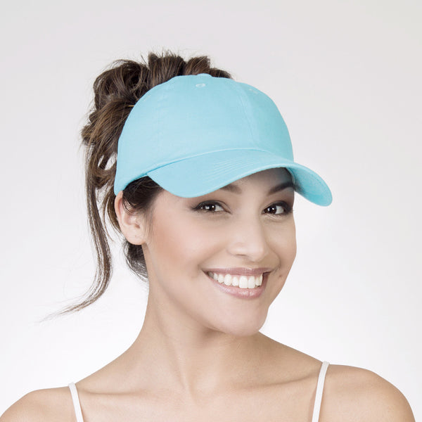 Spony Ponytail Ballcap - Easy Breezy (Teal) 1