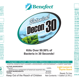 Benefect Decon 30: Botanical Disinfectant