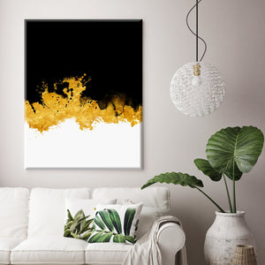 Splash of Gold Canvas