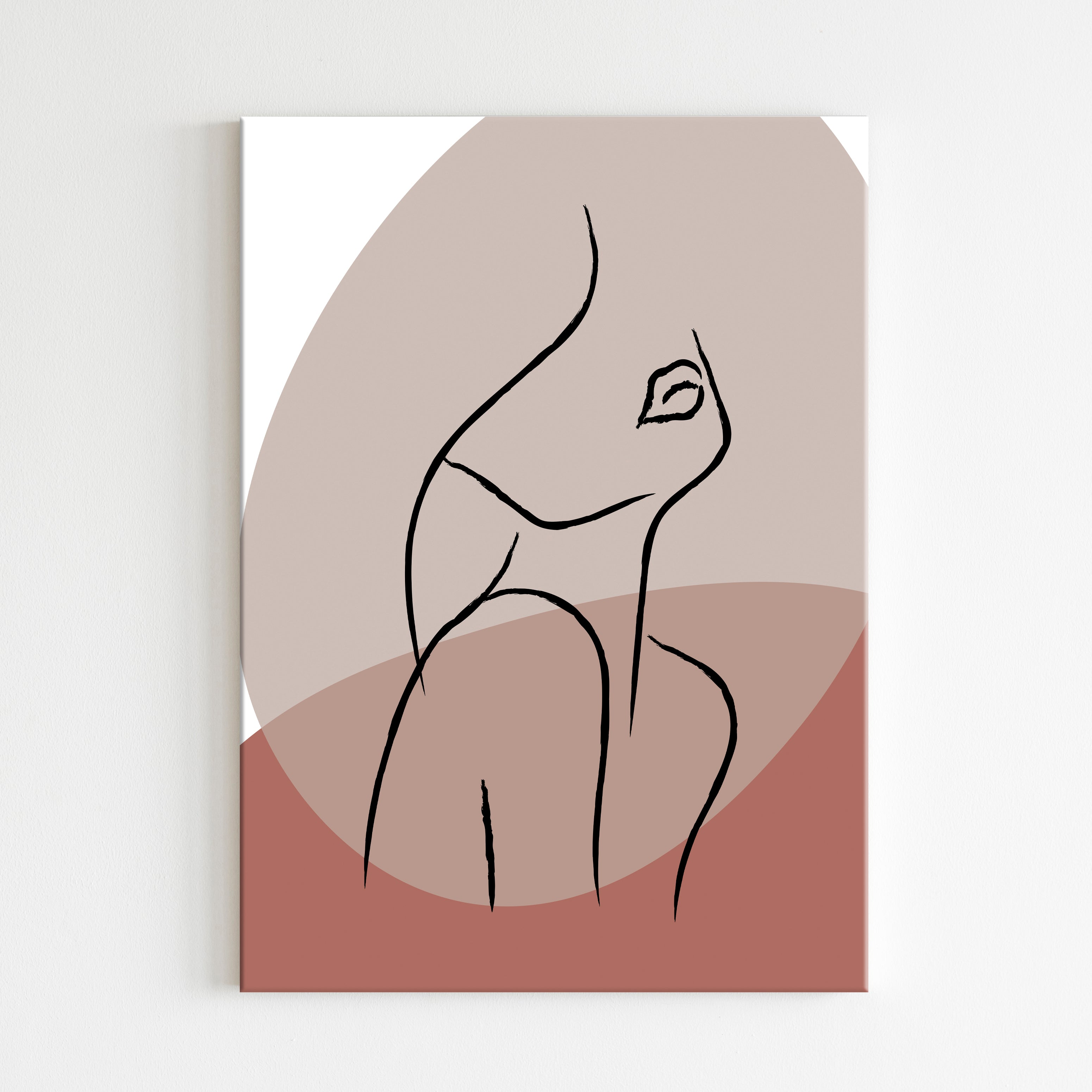 Abstract Woman Canvas