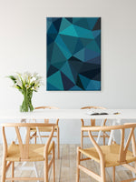 Load image into Gallery viewer, Broken Glass Canvas in Teal