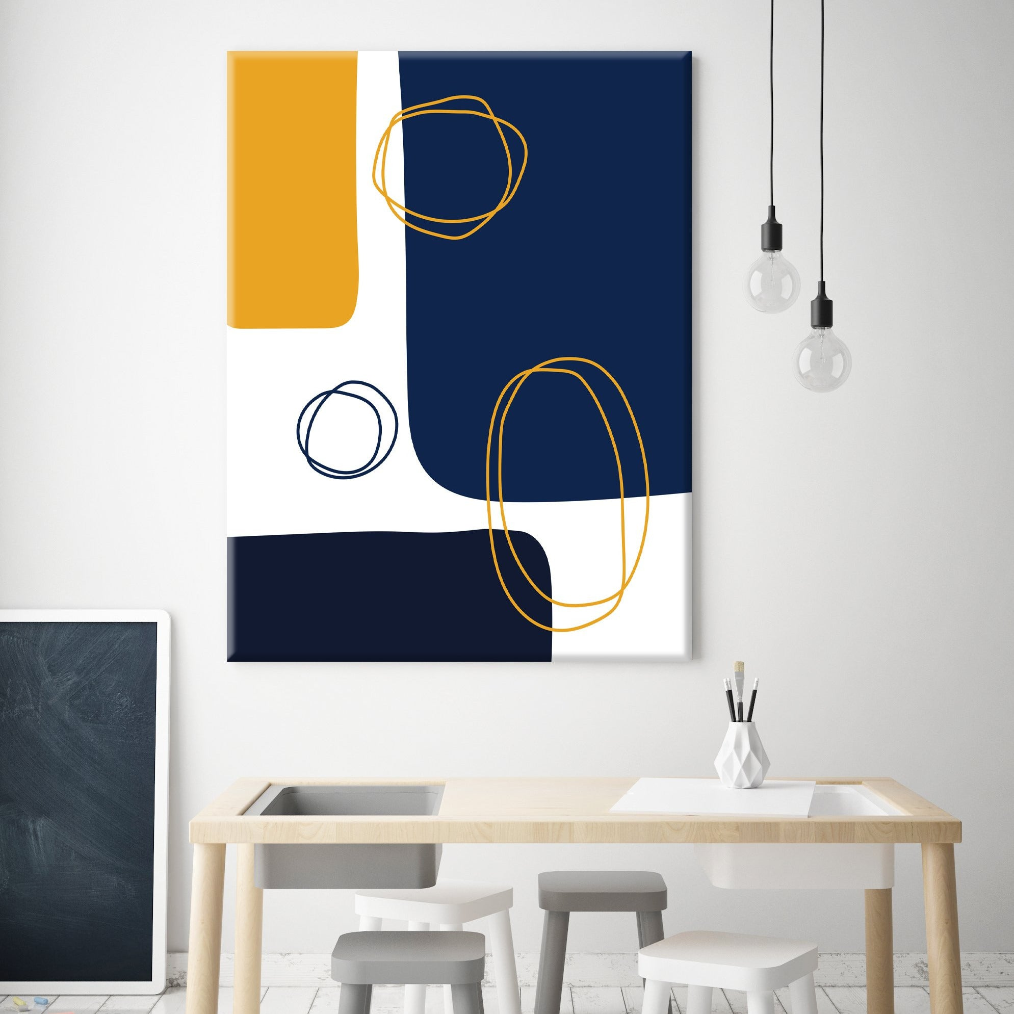 Blocks and Circles Canvas