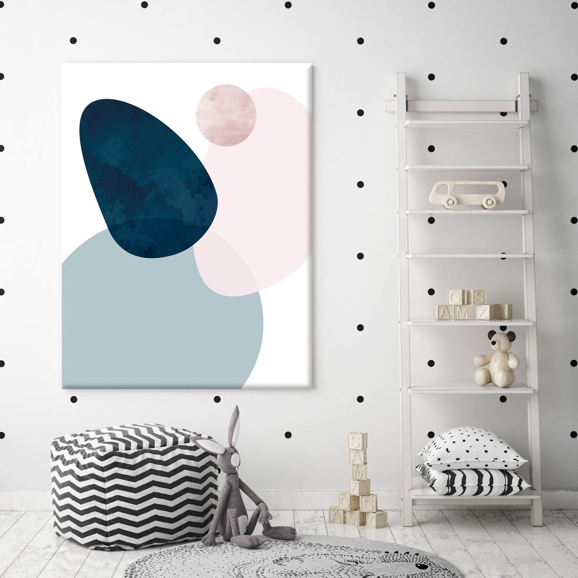 Pastel Shapes Canvas