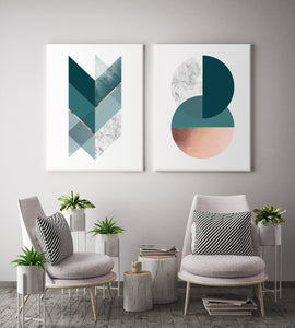 Geometric Harmony Canvas Set