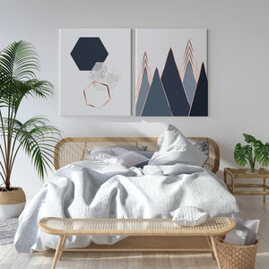 Scandinavian Geometry Canvas Set