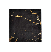 Load image into Gallery viewer, Black Marble Cocktail Napkins (set of 20)